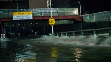 Hurricane Sandy's floodwaters rush into the Carey Tunnel (previously the Brooklyn Battery Tunnel) in New York City on Oct. 29: Is another monster storm on the way?