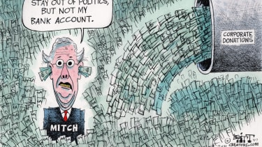Political Cartoon U.S. mcconnell corporate politics money