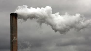A smokestack in Dayton, Ohio.