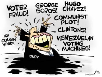 Political Cartoon U.S. Giuliani press conference