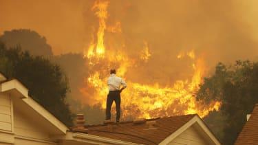 A wildfire in Camarillo, California.