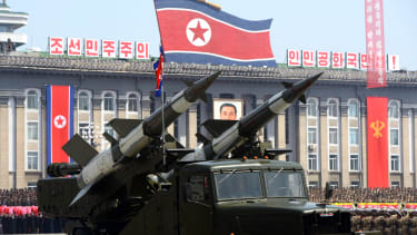 A missile in North Korea.