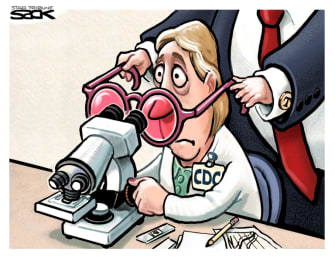 Political Cartoon U.S. CDC Trump COVID