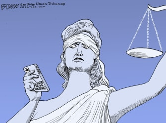 Editorial Cartoon U.S. Jacob Blake Kenosha justice