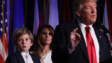 Melania and Barron Trump will not be joining Donald Trump at the White House right away