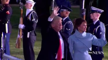 The first family arrives at the White House.