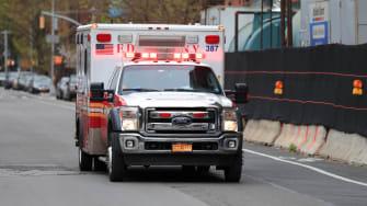 FDNY ambulance.