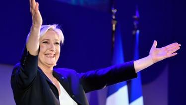 Marine Le Pen speaks to activists