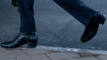 The high-heeled boots worn by Marco Rubio