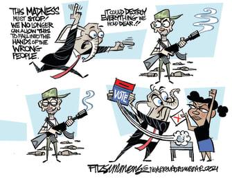 Political Cartoon U.S. gop gun control voting law georgia