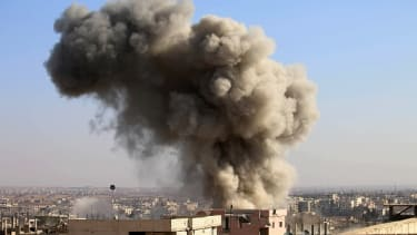 An airstrike in Syria.