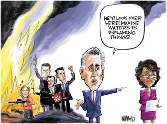 Political Cartoon U.S. maxine waters mccarthy gop
