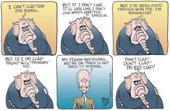 Political Cartoon U.S. biden congress address gop