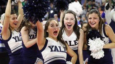 Yale cheerleaders.