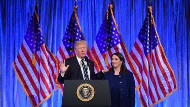 President Trump and RNC Chairwoman Ronna Romney McDaniel.
