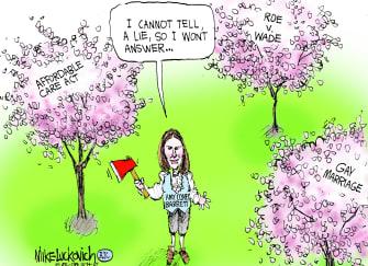 Political Cartoon U.S. Amy Coney Barrett SCOTUS