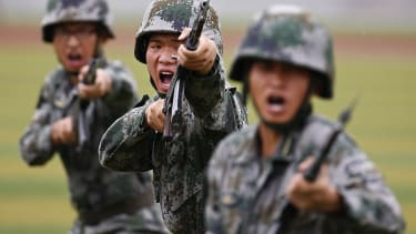 People's Liberation Army (PLA) soldiers