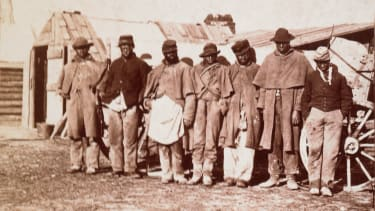 Escaped slaves who joined the Union army, 1863.