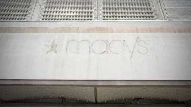 A closed-down Macy's building.