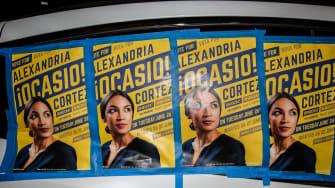 Alexandria Ocasio-Cortez posters in the Bronx