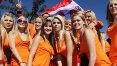 """Dutch beermaker Bavaria sent out """"fans"""" in skimpy outfits to raise visibility for the brand."""