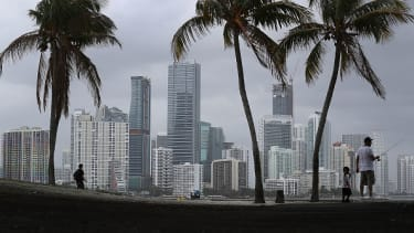 Miami during rain.