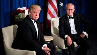 President Trump and Australian Prime Minister Turnbull.