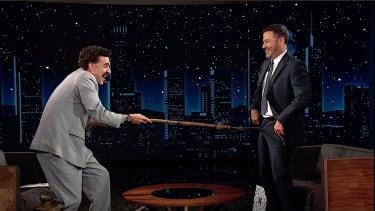 Borat pantses Jimmy Kimmel