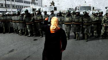 A Chinese Uighur woman.
