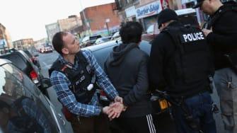 ICE raid in new york city.