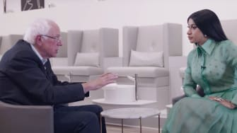 Bernie Sanders and Cardi B.