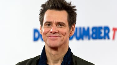 """LONDON, ENGLAND - NOVEMBER 20: Jim Carrey attends a photocall for """"Dumb and Dumber To"""" on November 20, 2014 in London, England."""