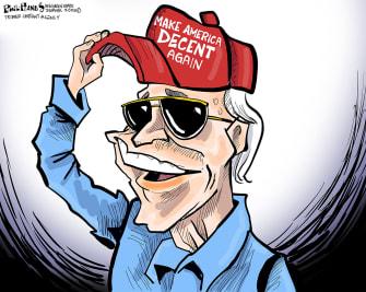 Political Cartoon U.S. Biden victory