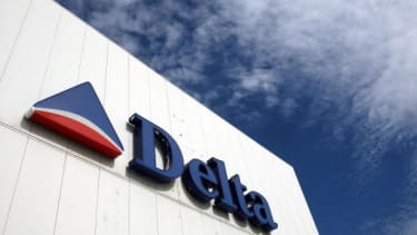 The Delta logo.