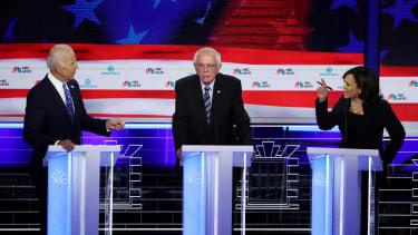 Biden, Sanders, Harris at the debate