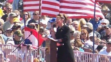 Palin in Searchlight, Nevada