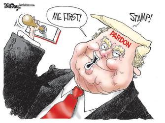Political Cartoon U.S. Trump self pardon