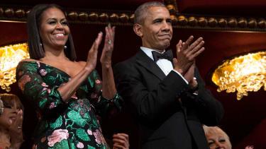 Michelle Obama and President Obama.