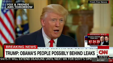 Trump blames Obama for leaks