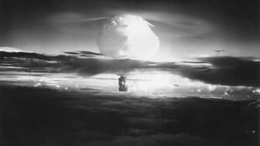 A hydrogen bomb explosion in the Pacific