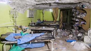 The aftermath of a suspected toxic chemical attack in Syria.
