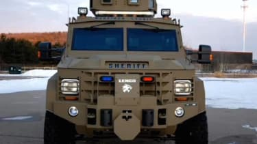 Watch a tiny Wisconsin town justify using an armored vehicle to collect $86k from an old man