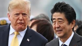 Trump and Japanese Prime Minister Shinzo Abe