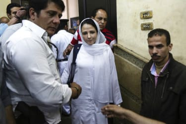 Aya Hijazi is released from detention in Cairo