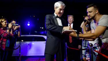 Robert Mueller and President Trump.