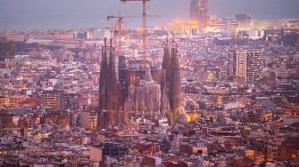 La Sagrada Familia in Barcelona.