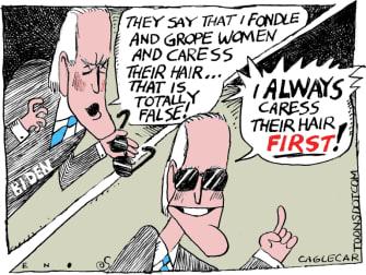 Political Cartoon U.S. Joe Biden Tara Reade allegations
