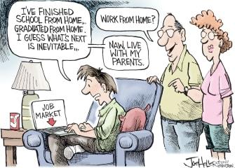 Editorial Cartoon U.S. 2020 graduates parents