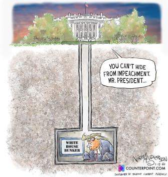Political Cartoon U.S. Trump impeachment