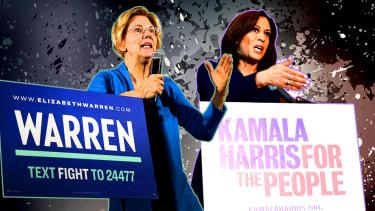 Elizabeth Warren and Kamala Harris.
